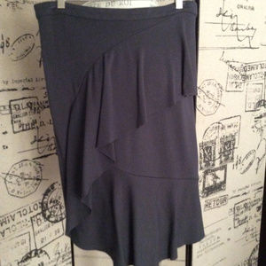 Anthropologie Gray Layered Skirt Size 10