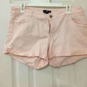 Women light pink jean shorts