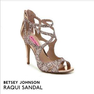 New in box Betsey Johnson raqui sandals in blush
