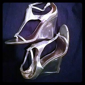 Carlos Clear High Heel Sandal Shoes 10