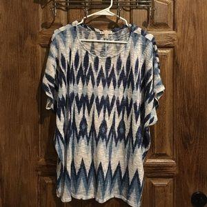 Patterned shirt sleeve shirt