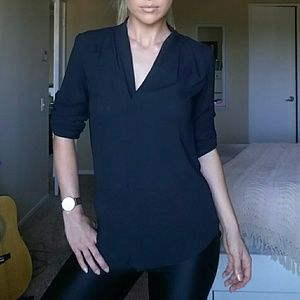 Mossimo Supply Co. High Low Tunic Top in Black