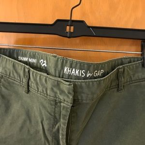 Ankle length dark green khakis