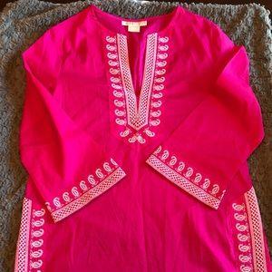 Michael Kors Pink Tunic/Swim Suit Cover