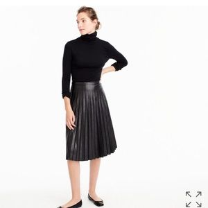 J Crew Faux Leather Midi Skirt 00