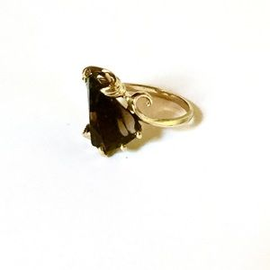 14k Smokey Topaz Ring