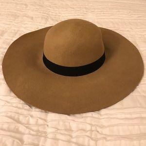Forever 21 Tan Floppy Wool Hat S/M