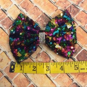 Other - Girls Glitzy Multicolored Sequin Hair Bow