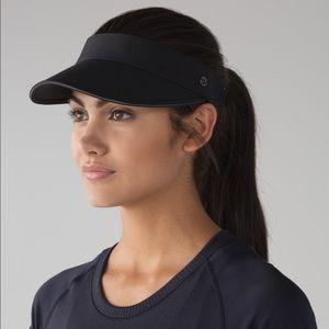 Lululemon fast paced run visor black