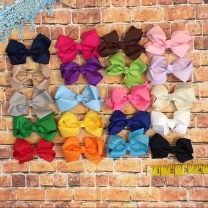 "Other - Girls boutique style 3"" hair bow 20 colors"