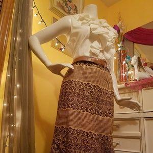 Ralph Lauren Top with African Skirt!