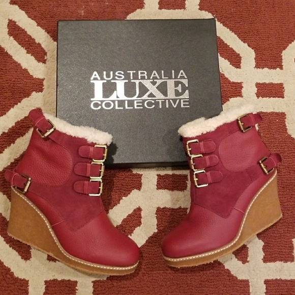 ff2c2bbee085 Australia Luxe Collective Monk Wedge Boots