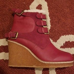 1d99eb3ebbb3 Australia Luxe Collective Shoes - Australia Luxe Collective Monk Wedge Boots