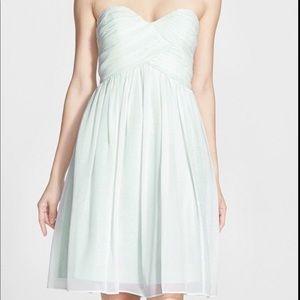 Morgan - strapless silk chiffon dress size 2 NEW