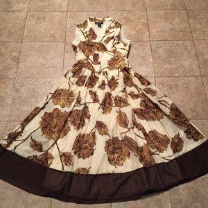 JONES NEW YORK Classic Floral Flare Wrap Tea Dress