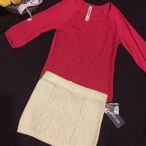 Adorable shirt & skirt.  Skirt, New with tag
