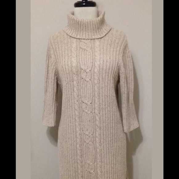 2ea370862ac OLD NAVY Oatmeal Sweater Dress Cable Knit NWOT. M 59c73c302599fe38d500bbe2