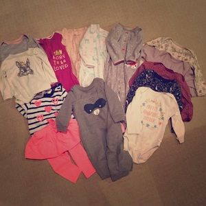 Other - Super cute Bundle of 14 baby outfits 6-12m