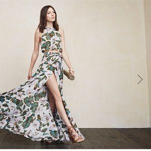 Reformation Harper two piece dress in Colada
