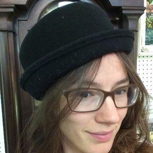 Vintage Wool Black Bucket Top Hat Oliver!