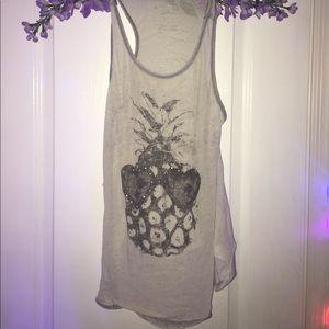 Gray pineapple shirt