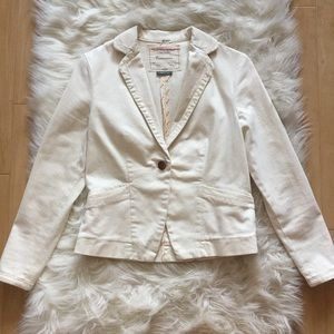 EUC Anthropologie Cartonnier Cream Fitted Blazer