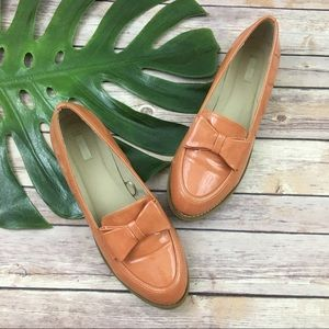 Cooperative orange bow trim loafers