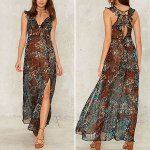 Multicolored Floral Design Maxi