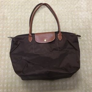 Longchamp Le Pliage shopping tote bag in brown