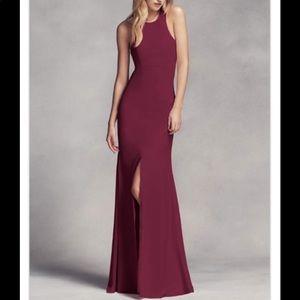 Vera wang wine dress