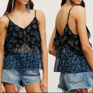 FREE PEOPLE Semi Sheer Tank Small