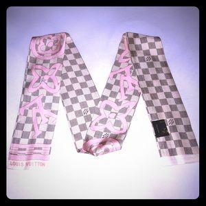 Tahiti rose silk bandeau twilly small scarf new