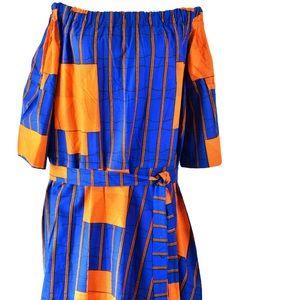 Off shoulder maxi dress for plus size