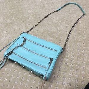 Rebecca Minkoff 3 ZIP Rocker crossbody bag in mint