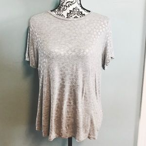 Metallic Polka Dotted Tee