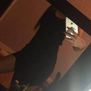 Tobi black asymmetrical dress