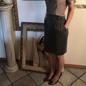 Grey Pencil Skirt (Size 4)