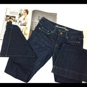 {American Eagle} AE77 dark wash flare jeans