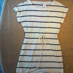 J. Crew navy & white stripe dress size L