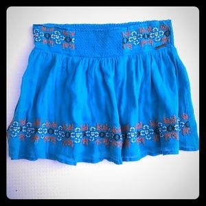 Rip Curl Women's XS blue embroidered skirt