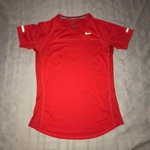 Nike dri fit running short sleeved shirt size M