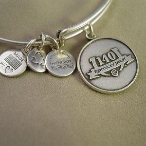 NWT Alex and Ani 140th Ky Derby Silver bracelet