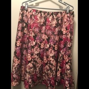 Purple and pink floral skirt