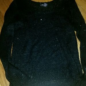 Sparkly slightly see through black sweater
