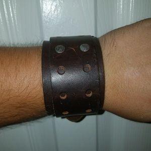 Other - Genuine Leather Wide Buckle Bracelet😊PRICE DROP😊