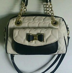 Black & white Betsey Johnson purse