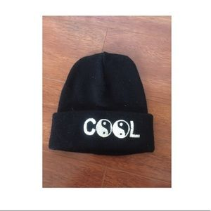 "Yin Yang ""Cool"" Beanie from Brandy Melville"
