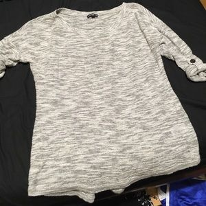 Express heathered black and white sweater size XS