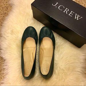 Jcrew Italian cece ballet flats boulevard green