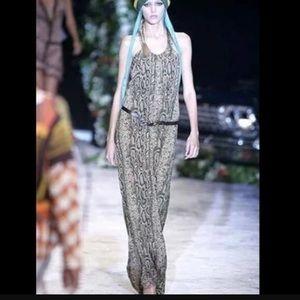 L.A.M.B snakeskin print maxi dress